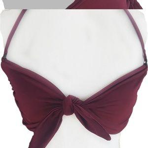 Leith Riviera Tie-Front Bikini Top Small